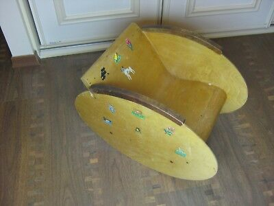 Rare Swedish vintage 1950s  plywood baby child rocking chair
