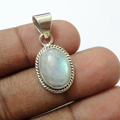 """925 Sterling Silver Moonstone White Small Pendant Jewelry S 1.21"""""""