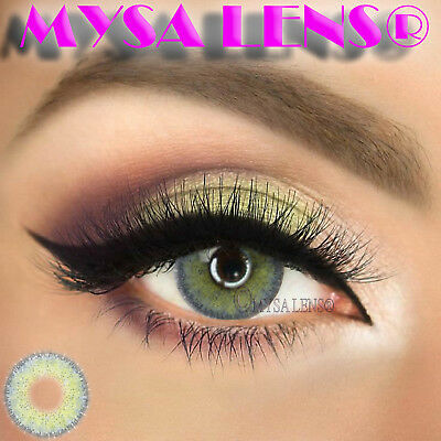 Super Natural Colored Contact Lenses Kontaktlinsen Lens 1 Year Diva Gray