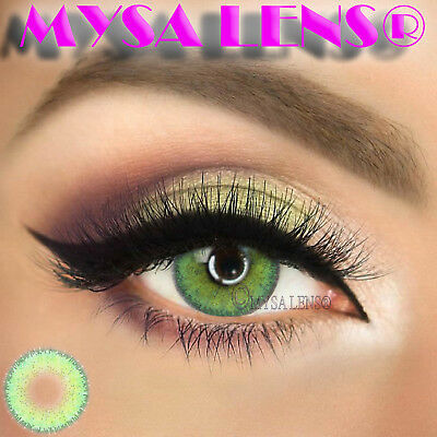 Super Natural Colored Contact Lenses Kontaktlinsen Lens 1 Year Diva Green
