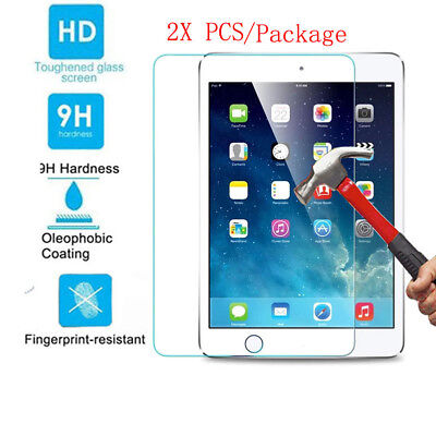 2 X Tempered GLASS Screen Protector Film For Apple iPad 6 5 3 Pro 9.7 Mini Air