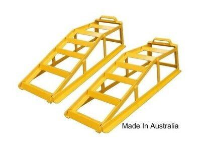 Stanfred Pair 850kg Vehicle Car Ramps Strong Steel Powder Coated Australian Made