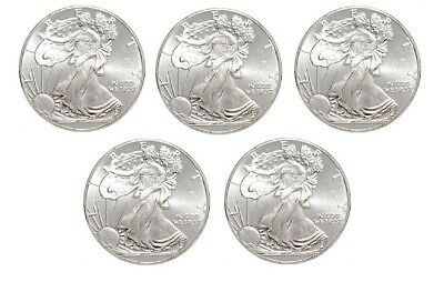 Five (5) 1/10 Troy Ounce Silver Rounds | Walking Liberty - Lot of 5