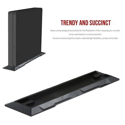 Vertical Stand Dock Foundation Mount Supporter Base Holder for Sony PS4 Slim QC