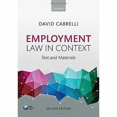 Employment Law in Context by David Cabrelli (Paperback, 2016)