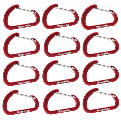 NatureHike 4cm Type-D Alloy Quick Release Buckles - Red (12 PCS)