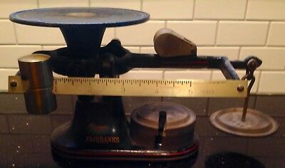 Vintage Fairbanks Standard Cast Iron Counter Scale Balance Excellent Condition