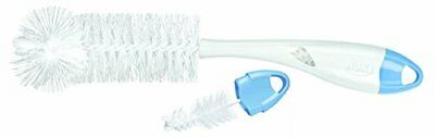 NUK 2 in 1 Bottle and Teat Brush (Colours may vary)