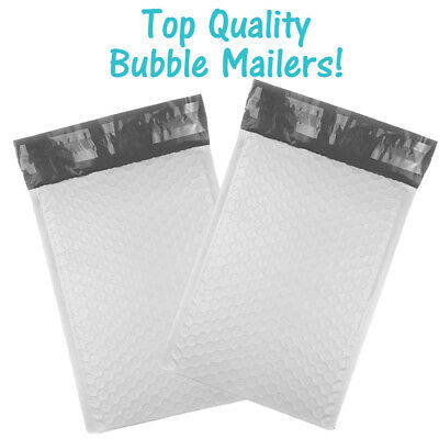 """6x10"""" POLY BUBBLE MAILERS, White Wholesale Padded Envelopes 6x9 Shipping Bags!"""