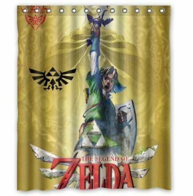 Great The Legend Of Zelda Shower Curtain Polyester Fabric Size 60 X