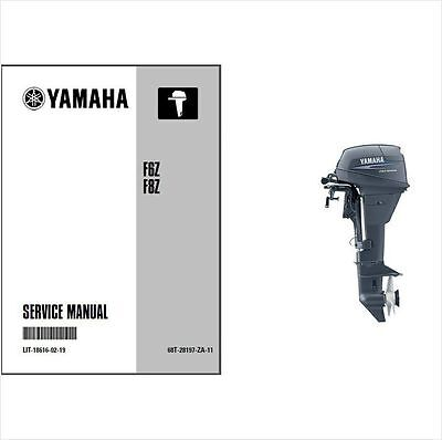 Yamaha F6 F8 Outboard Motor Service Repair Workshop Manual CD ..- F 6 F6Z 8 F8Z