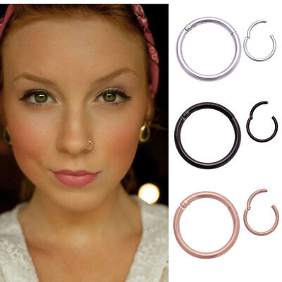316L Surgical Steel Segment Ring Lip Nose Eyebrow Belly Nipple Ear - Choose Size