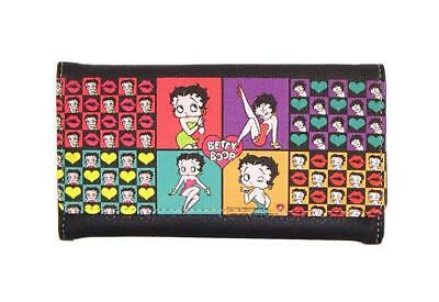 Betty Boop Tri- Fold Wallet Multi Color - Brand New - Licensed