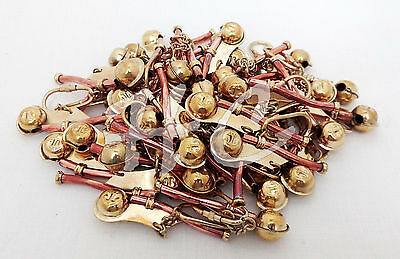 Lot of 50 Copper Brass Boatswain Pipe Key Chain~Nautical Marine Bosun Whistle