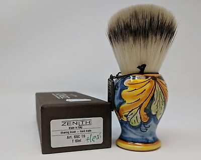 Handcrafted Sicilian Ceramic Synthetic Brush by Zenith. 28mm Knot. S11