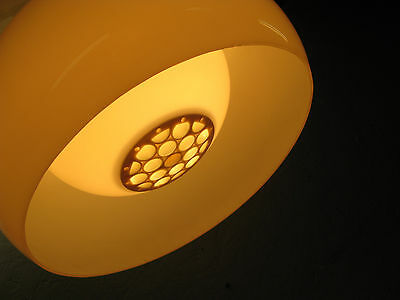 Vintage Ceiling Lamp White  Acrylic/ Plastic Made By Gilbert Canada