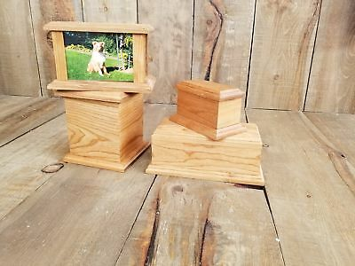Custom Wood Engraved Personalized Pet Urn and Pet Memorials
