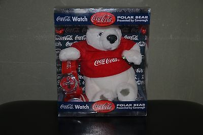 Vintage Coca-Cola Quartz Wristwatch Watch with Collectible Coke Polar Bear - New