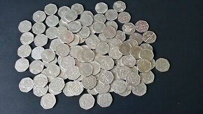 Various Rare 50p Coins, 50 Pence Coins, Beatrix Potter, Olympics, Paddington