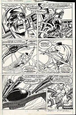 Solo Avengers #17 Page 29 Original Art Sub-Mariner Namor By Dave Cockrum RARE