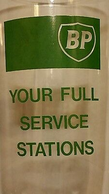 Vintage BP Gas British Petroleum~Your Full Service Stations~ Promotional Glass