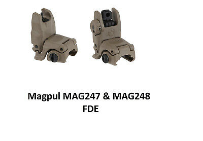 Magpul Industries MBUS Front & Rear Sight Set MAG247-FDE & MAG248-FDE - NEW