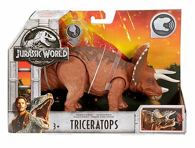 Jurassic World Stompers Triceratops Electronic Action Figure Motion Sounds B4579