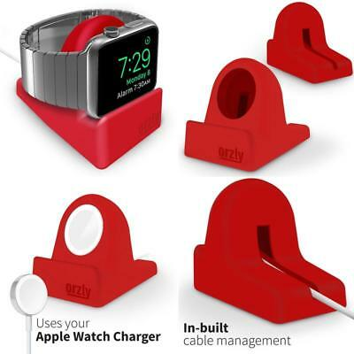 Night Stand Holder for Apple Watch, iWatch Charge Docking Station, red