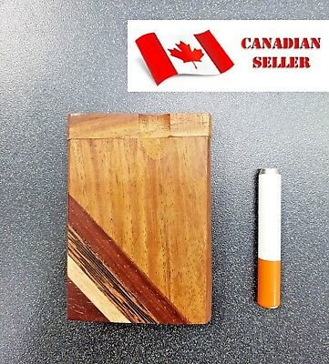 Wooden Dugout Pipe, for Dry Herb, Short, NEW. Smoking. Canadian Seller.