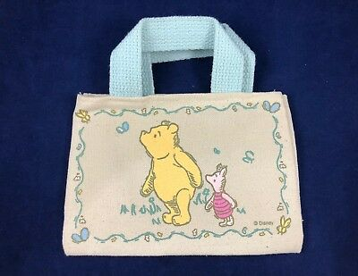 Winnie the Pooh & Piglet - Collectable Fabric Bag - Very Rare! Clean!