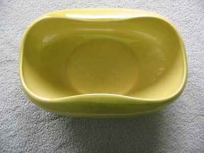 Russel Wright American Modern Chartreuse Green Oval Serving Bowl Steubenville
