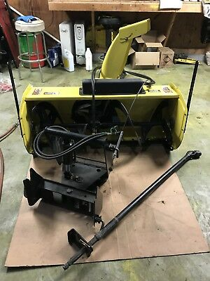 """John Deere 47"""" Two Stage Snow Blower And Quick WITH chute adjust cable will ship"""