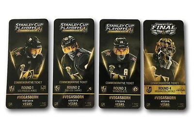 Vegas Golden Knights Commemorative Playoff Tickets Set #D/2018 Stanley Cup