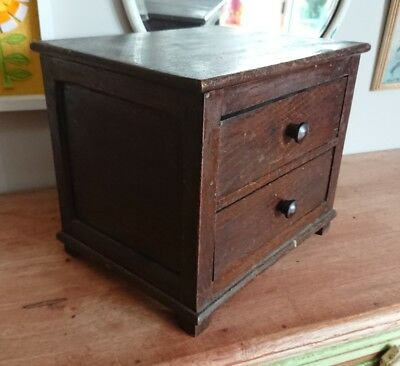 SMALL SET OF ANTIQUE specimen DRAWERS dressing table apothecary haberdasher mini