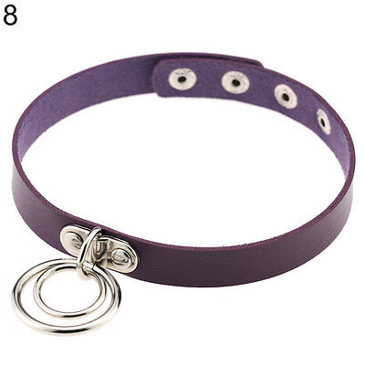GOTHIC BDSM KINKY purple RING CHOKER NECKLACE COLLAR 50 SHADES OF GREY Necklace