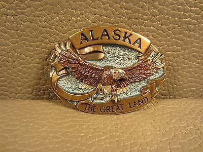 """The Great American Buckle Company Alaska Eagle """"The Great Land"""" 1984 Buckle"""