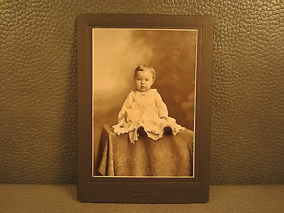 Victorian Antique Cabinet Card Photo of a Baby Girl, Child, Kid