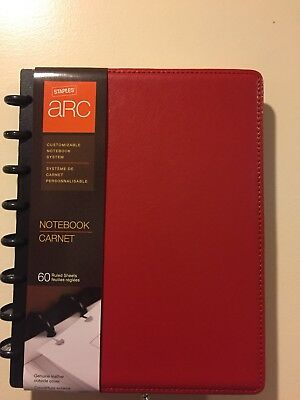 M By Staples ARC Customizable Notebook System, Red, Measures 8.5 x 5.5in, 20874