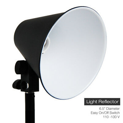 "6.5"" Light Photo Video Studio Reflector Photography Lighting Head w/ Reflector"