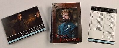 2018 Rittenhouse Game of Thrones Season 7 COMPLETE 81 Base Card Set 1-81