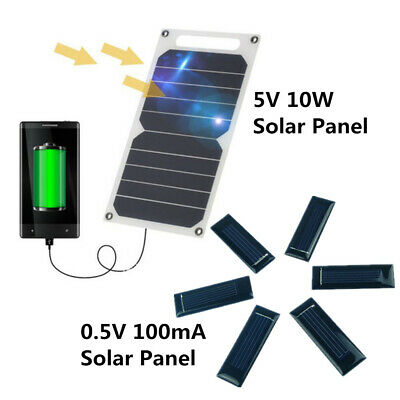 Waterproof 5V 10W Portable Solar Power Panel USB Charger For Cell Phone Tablet