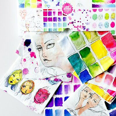 Jane Davenport Collage Papers - 8 Designs - 32 Sheets