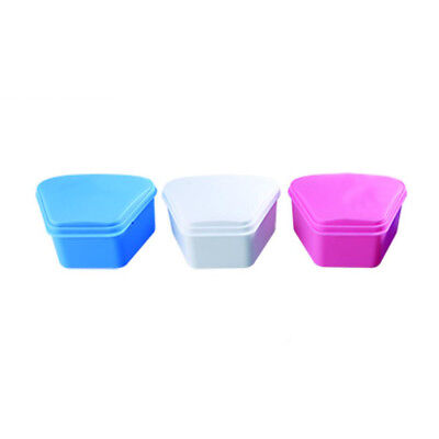 200pcs Wholesale Dental Denture Bath Retainer Mouthguard Storage Container Wd