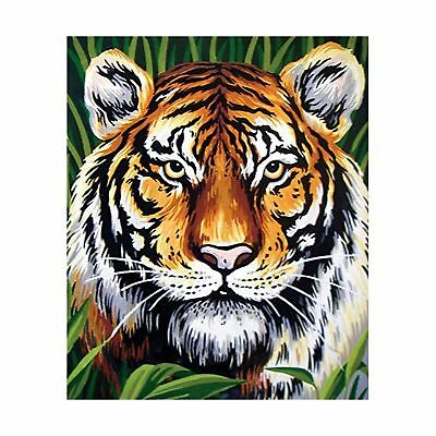 Collection D'Art Printed Tapestry Canvas Tiger White
