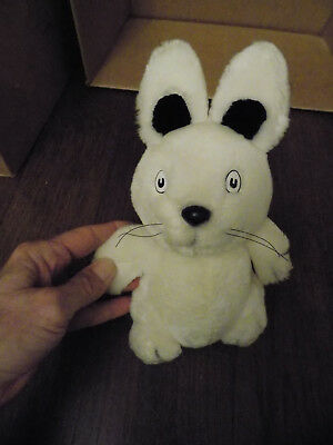 "Vtg Max & Ruby 9"" White Bunny Rabbitv Plush Black whiskers 1986 Rosemary Wells"