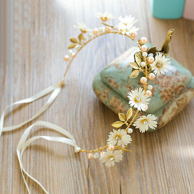 Women Flower Girl wedding Hair Headband crown Wreath Garland Wedding Party Beach