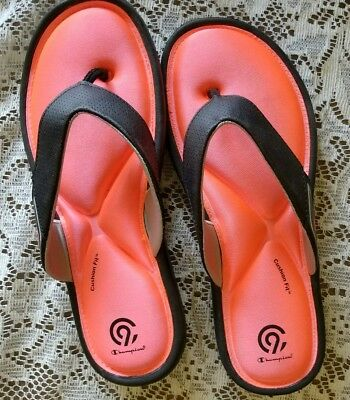 d0459b375f3d6 WOMEN S CHAMPION CUSHION Fit Sandals Flip Flops Size 10 -  7.99 ...