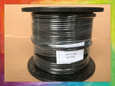 4mm2 Twin Core DC Cable Solar PV Cable 100 Meter Roll