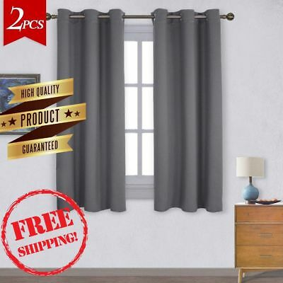 Blackout Curtains Bedroom Drapes Living Room Darkening Thermal Curtain Panel New
