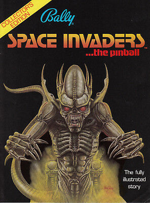 BALLY Space Invaders pinball flyer brochure pamphlet 1980 BRAND NEW + Comic book